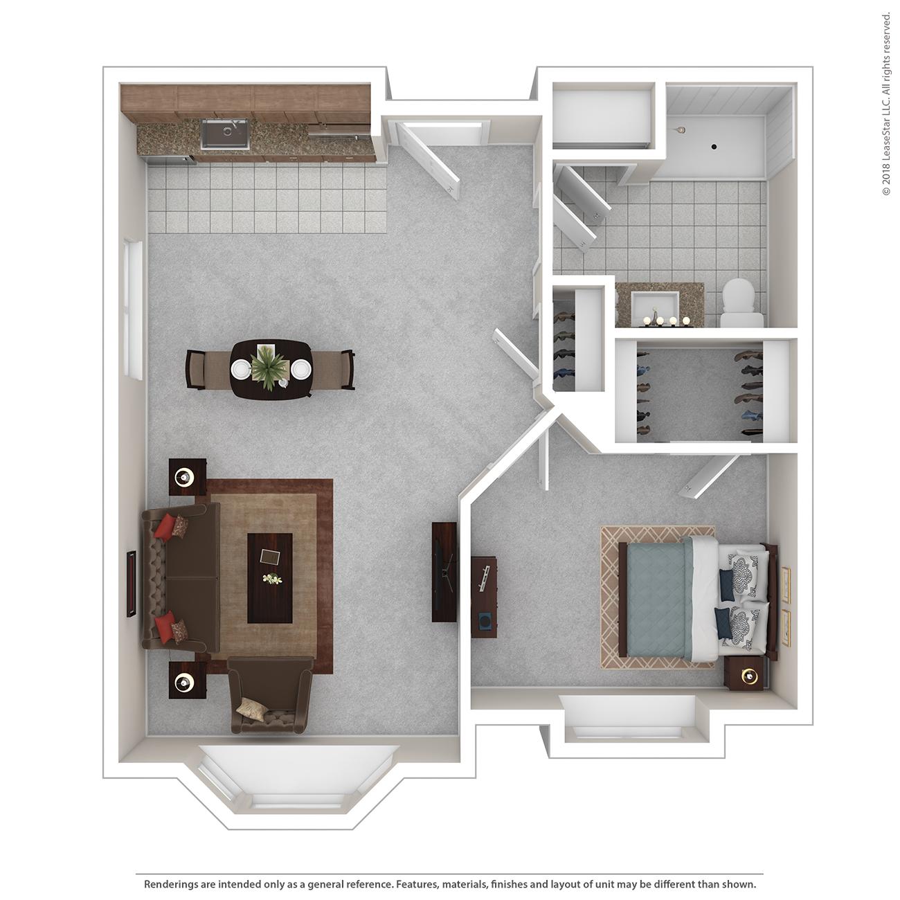Bay Floor Plan of Charter Senior Living of Bay City