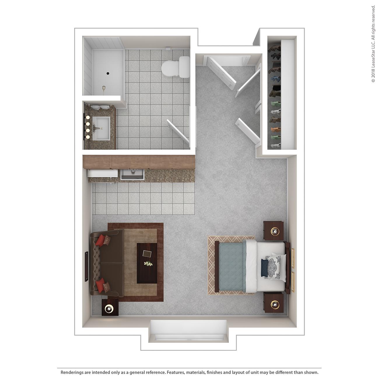 Lake Floor Plan of Charter Senior Living of Bay City