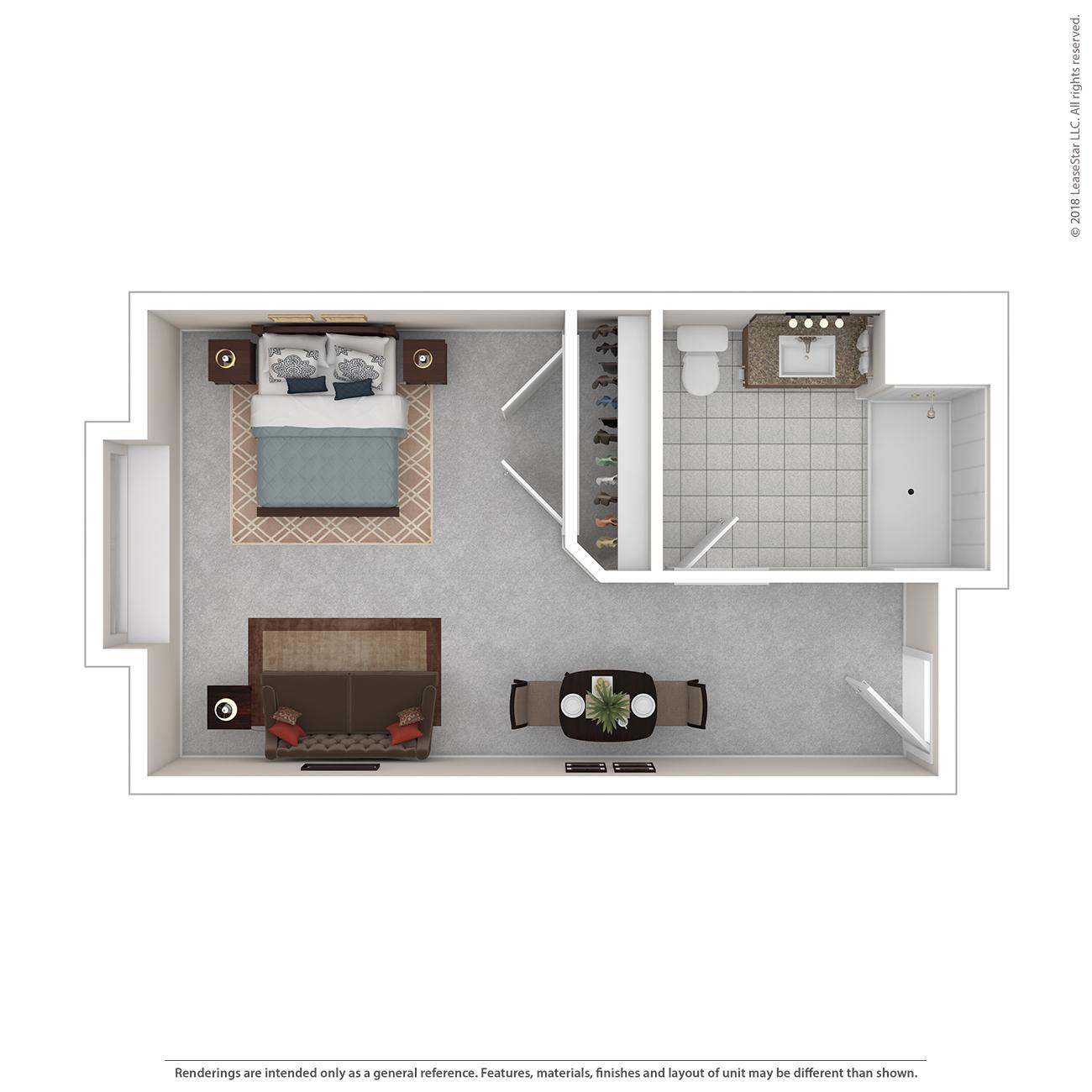 River Floor Plan of Charter Senior Living of Bay City